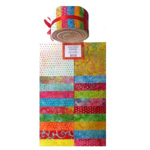 Quilting Jelly Roll Patchwork BATIK AUSTRALIA CARNIVAL 2.5 Inch Sewing Fabrics