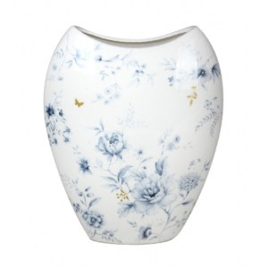 Elegant BLUE MEADOWS China Floral Flowers Vase