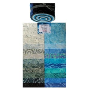 Quilting Jelly Roll Patchwork Batik Australia SEA SPRAY 2.5 Inch Sewing Fabric