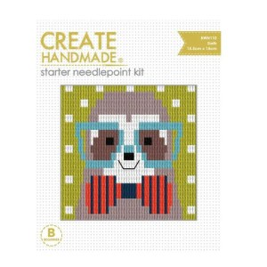 CREATE HANDMADE Needlepoint Kit Kids SLOTH 15x15.5cm