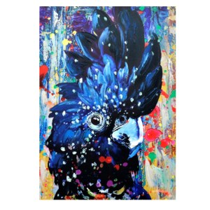 French Country Canvas Print BLACK COCKATOO Australian 50x70cm