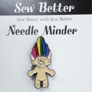 Sew Better Cross Stitch Needle Minder Keeper TROLL DOLL
