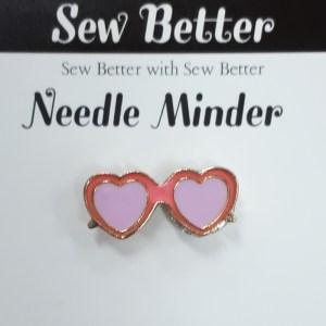 Sew Better Cross Stitch Needle Minder Keeper HEART SUNGLASSES