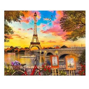 5D Diamond Painting Full Image Squares EIFFEL TOWER SCENIC 40x50cm