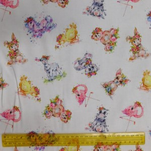 Quilting Patchwork Fabric BOHO ANIMALS 50x55cm FQ Material