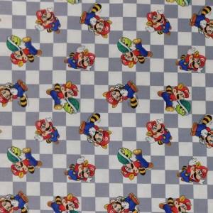 Quilting Patchwork Fabric SUPER MARIO 50x55cm FQ Material