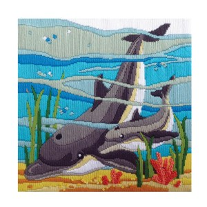 Country Threads Long Stitch Kit DOLPHINS FLS-5025 Inc Threads