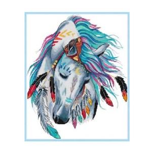 Cross Stitch Kit RAINBOW HORSE X Stitch Joy Sunday Incl Threads