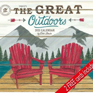 Legacy 2021 Calendar THE GREAT OUTDOORS Calender Fits Lang Wall Frame