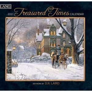 Lang 2021 Calendar TREASURED TIMES Calender Fits Wall Frame