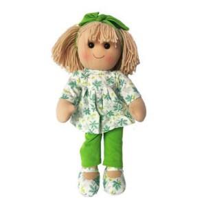 Hopscotch Lovely Soft Rag Doll AMELIA Girl Dressed Doll Large 35cm