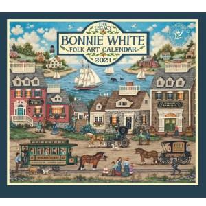 Legacy 2021 Calendar BONNIE WHITE FOLK ART Calender Fits Lang Wall Frame