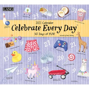 Lang 2021 Calendar CELEBRATE EVERYDAY Calender Fits Wall Frame