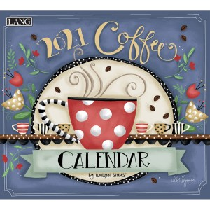 Lang 2021 Calendar COFFEE Calender Fits Wall Hanging Frame