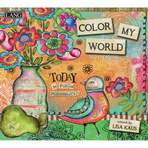Lang 2021 Calendar COLOR MY WORLD Calender Fits Wall Frame