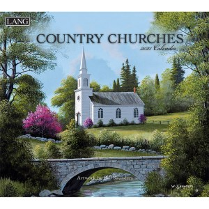 Lang 2021 Calendar COUNTRY CHURCHES Calender Fits Wall Frame
