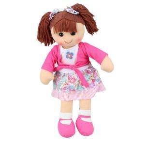 Hopscotch Lovely Soft Rag Doll EMMA Girl Dressed Doll Large 35cm