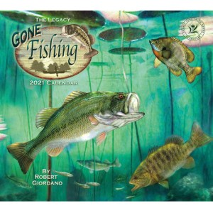 Legacy 2021 Calendar GONE FISHING Calender Fits Lang Wall Frame