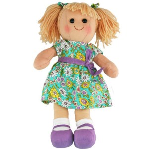 Hopscotch Lovely Soft Rag Doll GRACE Girl Dressed Doll Large 35cm