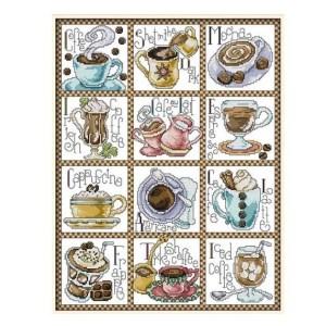 Cross Stitch Kit DECEMBER COFFEE X Stitch Joy Sunday Inc Threads
