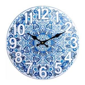 Clocks Wall Hanging Mediterranean Blue Clock 34cm