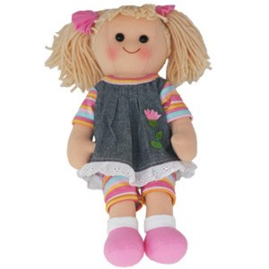 Hopscotch Lovely Soft Rag Doll LEXI Girl Dressed Doll Large 35cm