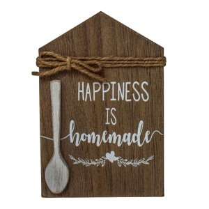 Country Wooden Farmhouse Sign HAPPINESS IS HOMEMADE Plaque