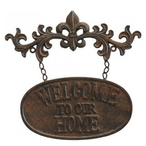French Country Wall Art Wrought WELCOME TO OUR HOME Metal