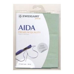 Cross Stitch Aida Cloth 14 Count ZWEIGART CELADON GREEN 36x48cm Fabric