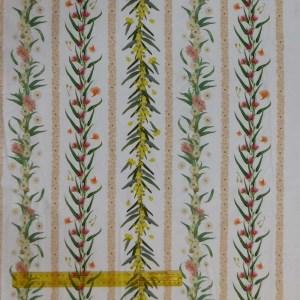 Quilting Patchwork Fabric AUSSIE BUSH FLORAL BORDER 50x100cm 1/2m Cut