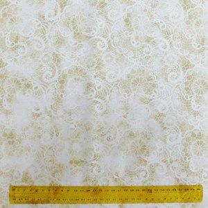 Quilting Patchwork Fabric CREAM DOILY LUSTER 50x55cm FQ Material