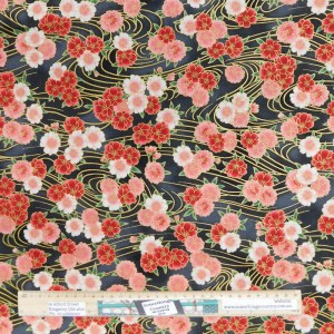 Quilting Patchwork Fabric JAPANESE SMALL FLORAL 50x55cm FQ Material
