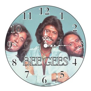 Clock French Country Wall Small Clocks 17cm THE BEE GEES Band