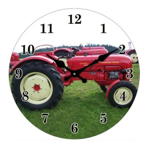 Clock French Country Wall Small Clocks 17cm RED TRACTOR