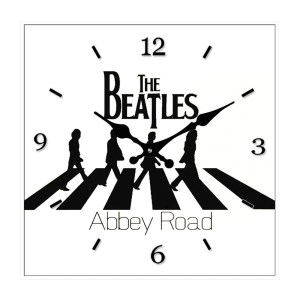 Clock French Country Wall Clocks 30cm BEATLES Abbey Road Glass