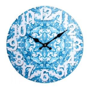 Clocks Wall Hanging Vintage Looking Santorini Time Clock 34cm