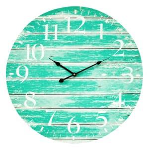 Clocks Wall Hanging Teal Green 58cm Clock Large Numbers