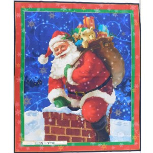 Patchwork Quilting Sewing Fabric GIFTS FROM SANTA Panel 91x110cm