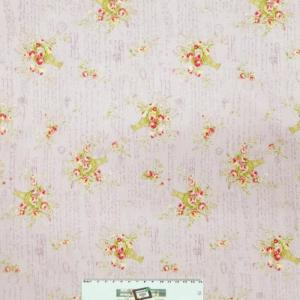 Patchwork Quilting Sewing Fabric LILAC FLORAL Material Cotton FQ 50X55cm New