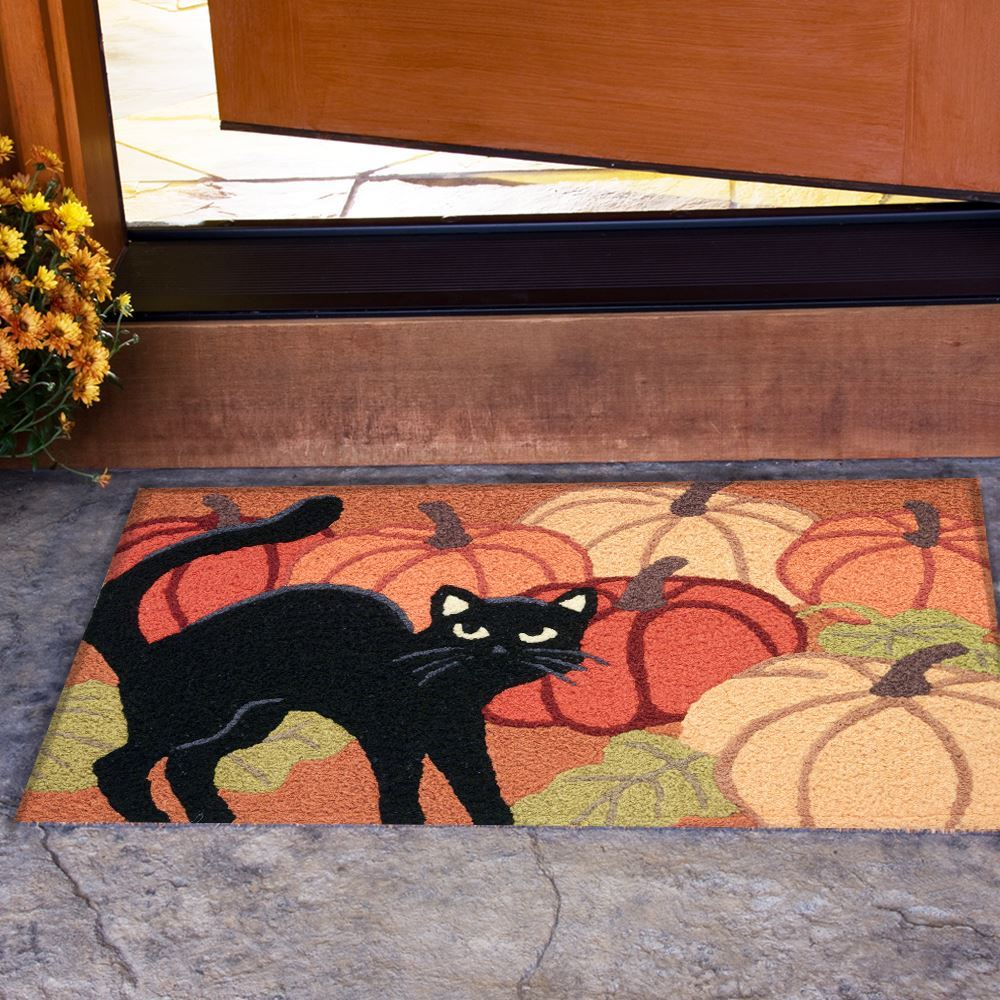 jellybean rug black cat