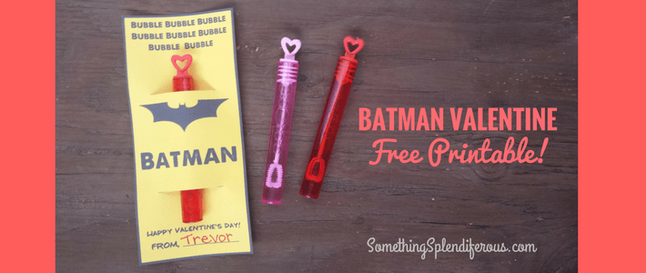 Batman Valentine Free Printable