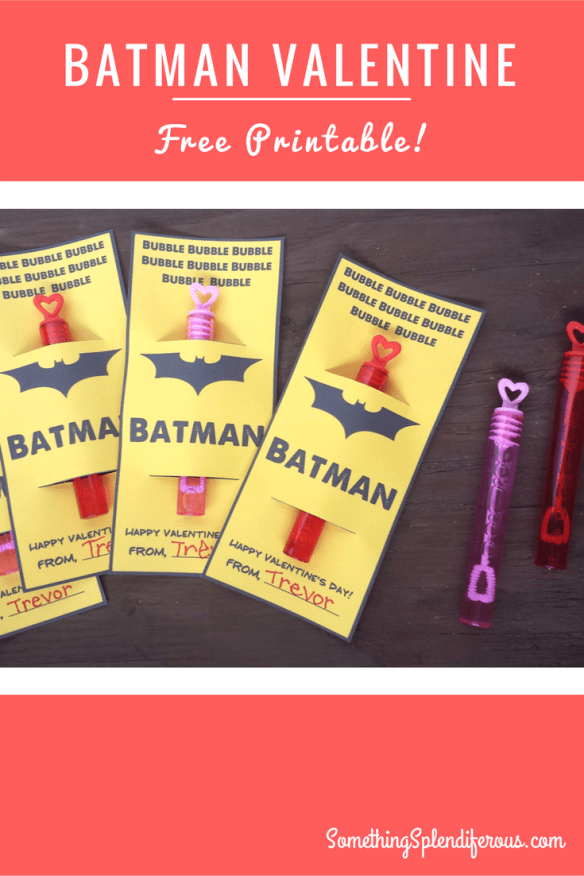 My son loves Batman, so this year I thought it would be fun to have Batman Valentines! What little boy wouldn't flip over Batman Valentines! I'm good at creating things, how hard could it be to make a valentine? www.somethingsplendiferous.com