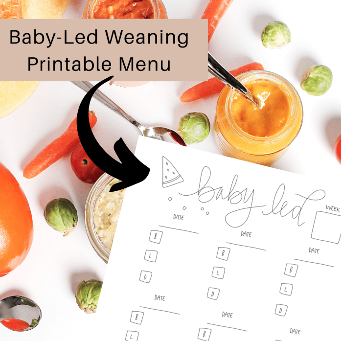 Baby Led Weaning Weekly Meal Plan