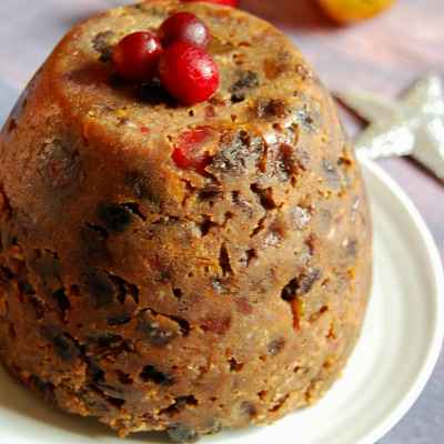 Triple Ginger, Cherry and Pecan Christmas Pudding