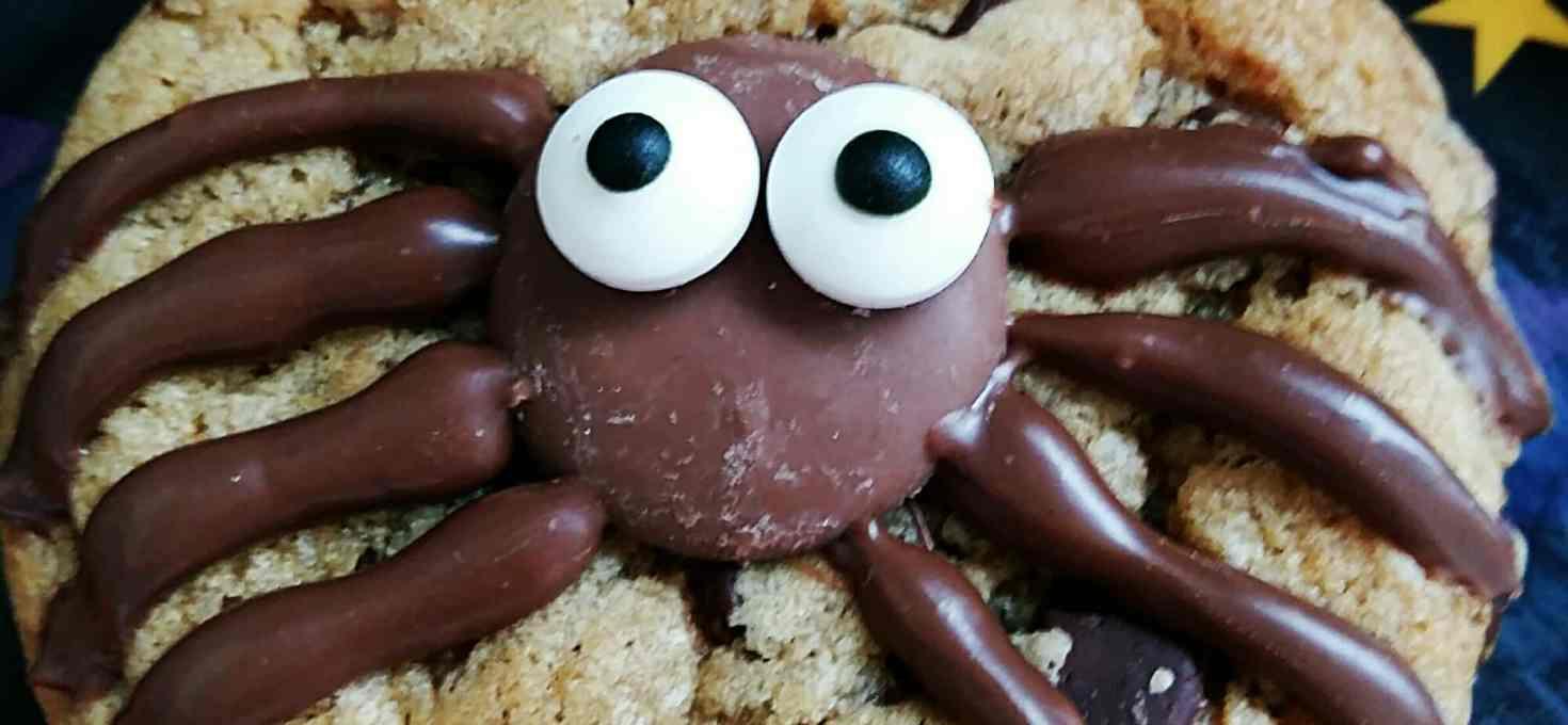 Spooky spider cookies!