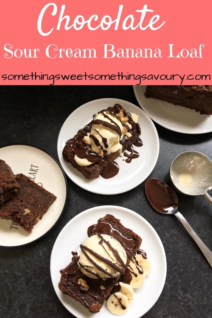 Chocolate Sour Cream Banana Cake