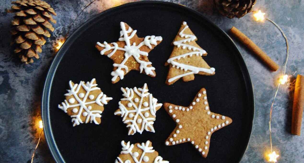 Easy Iced Gingerbread Biscuits