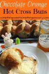 chocolate orange hot cross buns