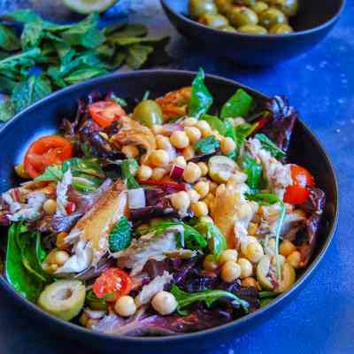 Smoked mackerel and chickpea Salad