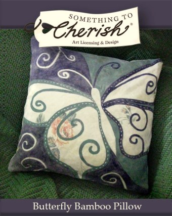 Cherish Butterfly Bamboo Pillow Featured Design